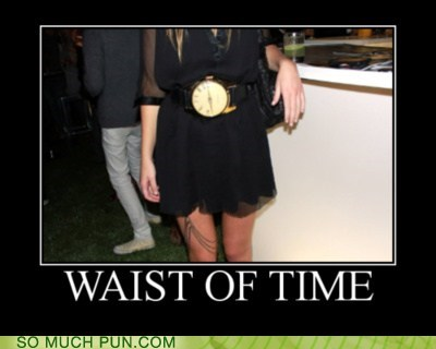 double meaning idiom literalism time waist waste - 6414701056