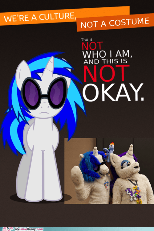 Bronies meme not a costume vinyl scratch - 6414880000