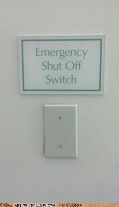 emergency IRL sign switch - 6414899712