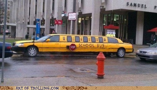 IRL,limo,school bus,seems legit