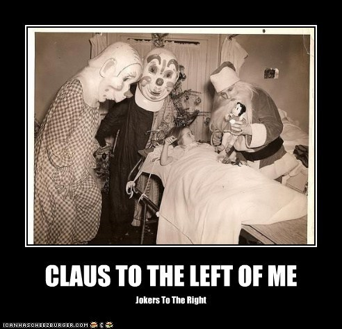 bed clowns hospital kid santa