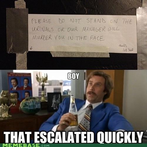 anchorman escalation face Memes murder - 6415229440