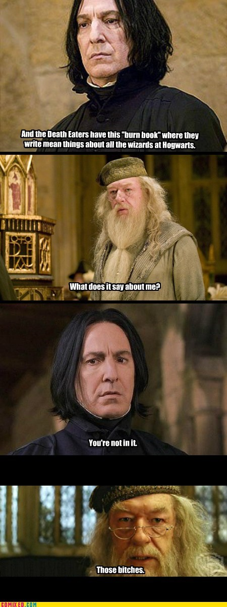 best of week burn dumbledore Harry Potter mean girls wizards