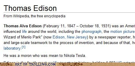thomas edison,Nikola Tesla,wikipedia