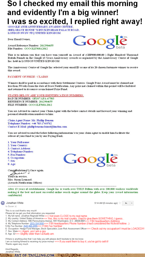 google scam shoppers beware winner - 6416200192