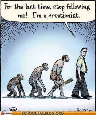 bizarro creationist evolution go away Hall of Fame - 6416292096