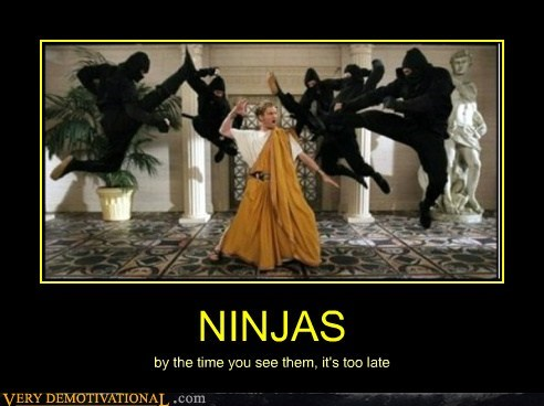 NINJAS by the time you see them, it's too late
