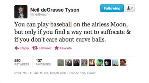 MLB mlb all-star game neil degrasse tyson tweet neil degrasse tyson tweets - 6416518912