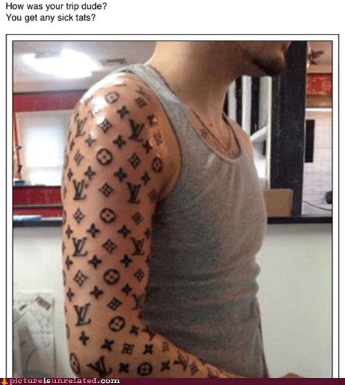 bro louis vitton tattoo sleeve wtf - 6416547328