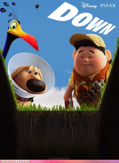 disney down funny Movie pixar poster right in the feels spoof up - 6416648960