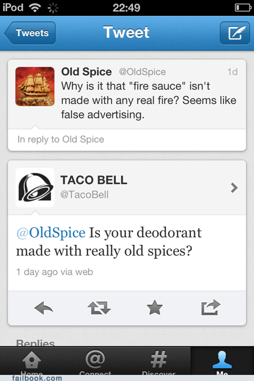 failbook g rated old spice taco bell tweet twitter