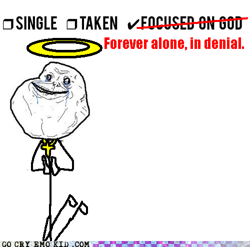 emolulz,forever alone,hipster edit,in denial,religion