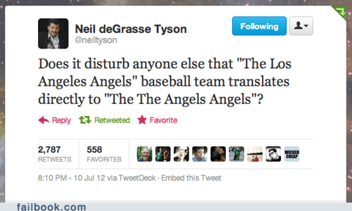 baseball failbook g rated Neil deGrasse Tyson sports twitter
