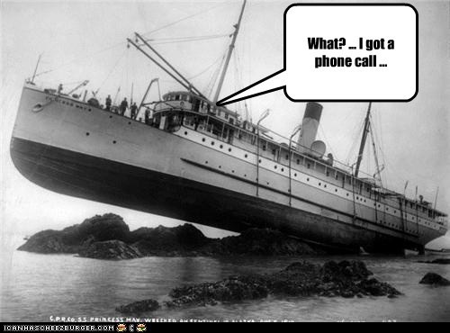 accident,boat,phone call,rock,ship