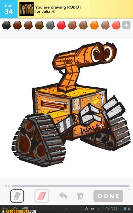 draw something pixar robot wall.e