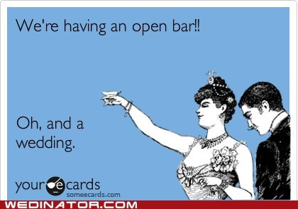 alcohol,funny wedding photos,open bar,weddings