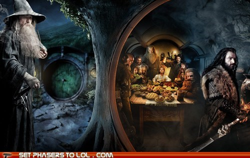 banner,Bilbo Baggins,gandalf,gollum,huge,ian mckellen,Martin Freeman,Movie,panoramic,poster,story,The Hobbit