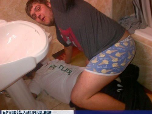 bathroom,bro spoon,bros,passed out