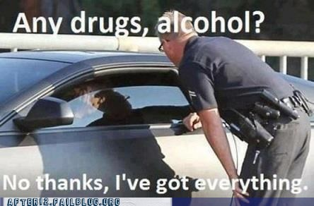 alcohol,cops,police,pulled over,traffic stop,weed