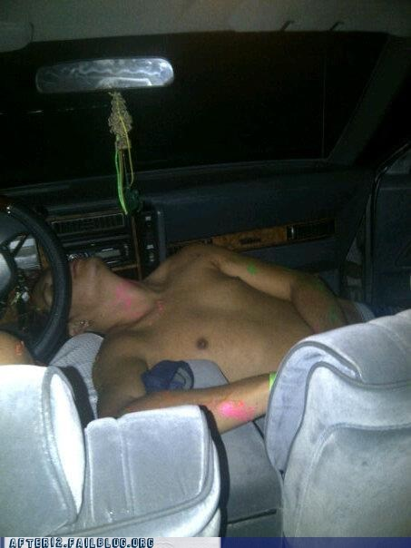 front seat,passed out,passenger seat