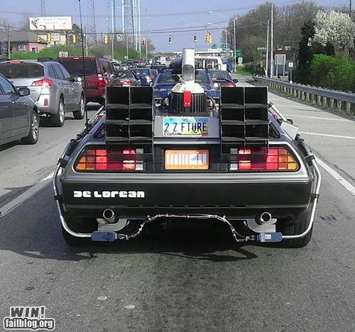 back to the future car driving nerdgasm - 6417090560