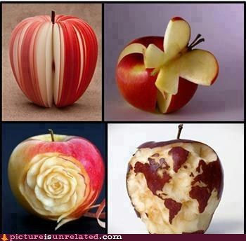 apples,art,carving,fruit,wtf