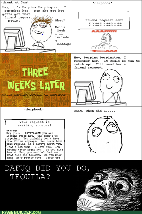 drunk facebook Rage Comics raisin face - 6417171968