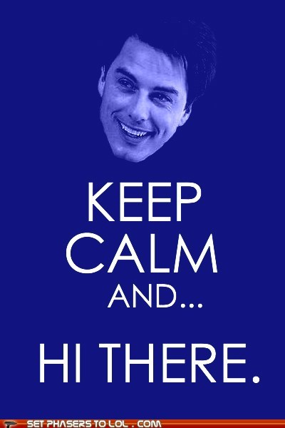 best of the week,Captain Jack Harkness,forgot,hi there,hot,john barrowman,keep calm and carry on,sexy,Torchwood