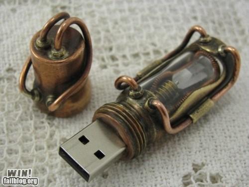 design,nerdgasm,Steampunk,thumb drive,usb drive