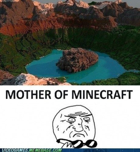 beautiful amazing minecraft mother of god PC