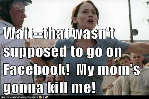 facebook,hunger games,jennifer lawrence,katniss everdeen,mistake,no,wait