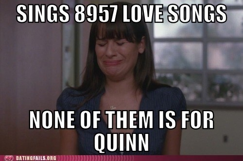 creys,glee,love songs,quinn,Rachel Berry
