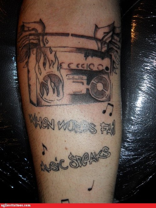 arm tattoos fire Music radio