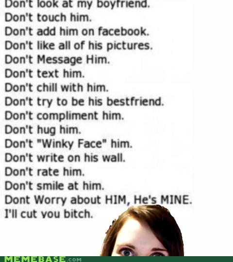 facebook friends overly attached girlfrien text Text Stuffs - 6417569280