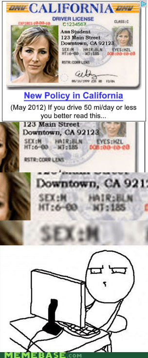 Close Enough,drivers license,male,woman