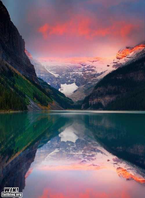Canada lake landscape mother nature ftw pretty colors wincation - 6417821440