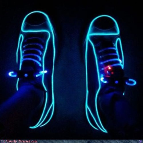 lights neon pretty colors shoes tron