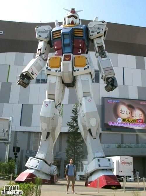 anime,gundam,nerdgasm,robot,sculpture