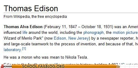 editing articles teslas-ghost thomas edison wikipedia - 6417848064