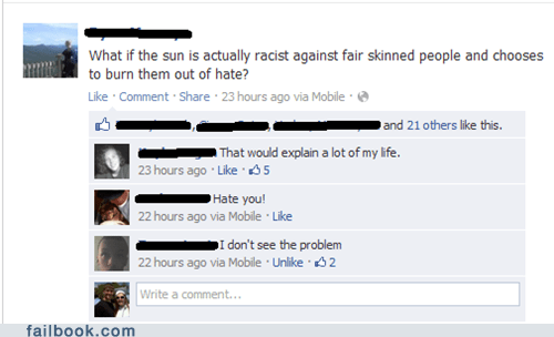 black failbook racist skin tanning