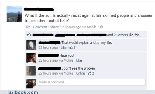 black failbook racist tanning - 6417856256