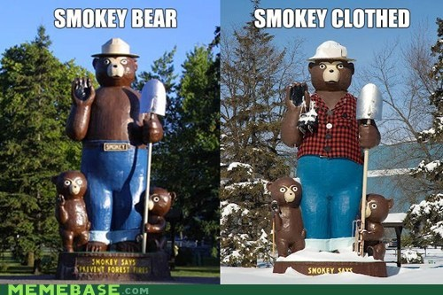 clothes,How People View,How People View Me,Smokey the Bear,snow,wildfire