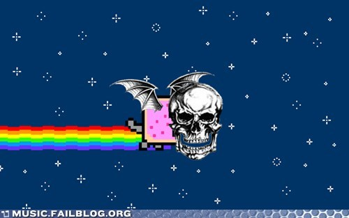 avenged sevenfold,deathbat,Nyan Cat