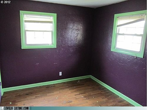 barney green paint purple ugly