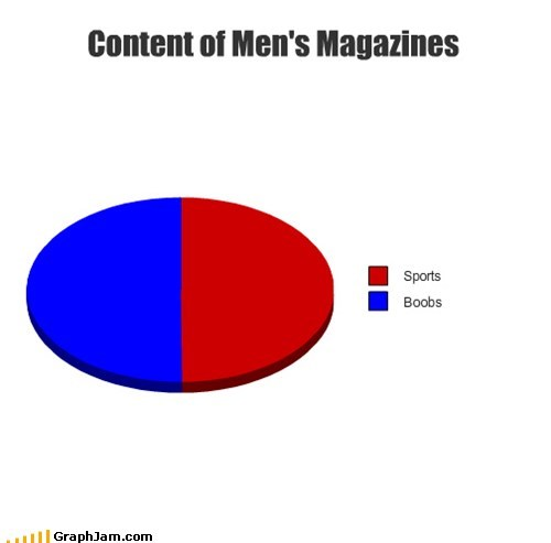 bewbees,magazines,men,Pie Chart,sports