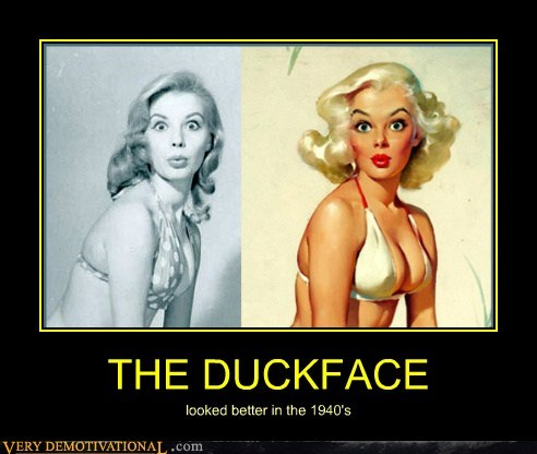 1940 duck face Pure Awesome seyx ladies - 6419227904
