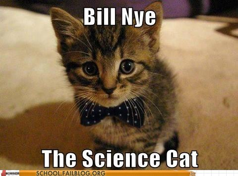 bill nye Bill Nye the Science cat lolcats science - 6419375872