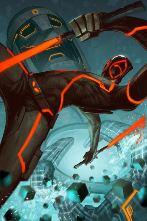 comics crossover deadpool Fan Art tron - 6419379712