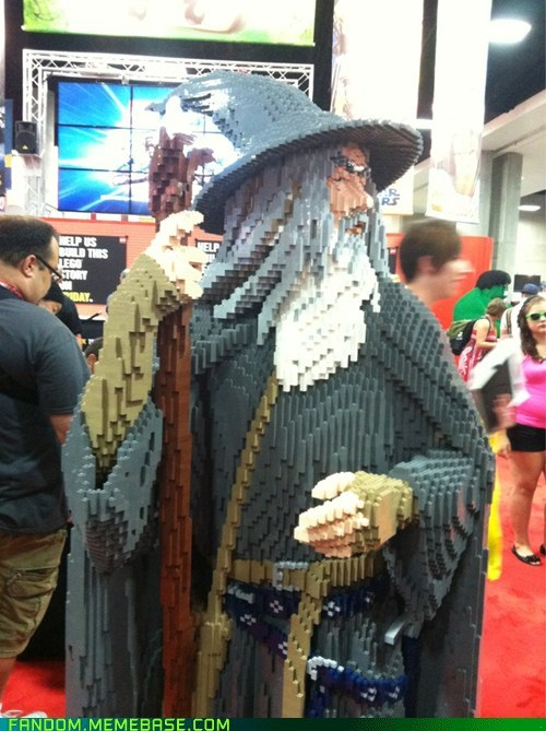 Fan Art,gandalf,lego,Lord of the Rings,SDCC