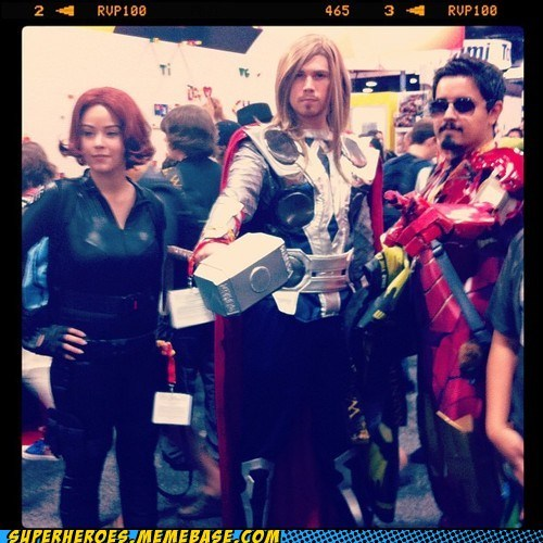 avengers Black Widow iron man sdcc 2012 Super Costume Thor